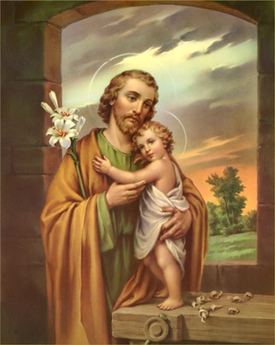 Traditonal Image of St. Joseph with the Child Jesus